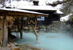 Japanese hot springs also known as  onsen