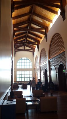 Foyer of the Montezuma Hall in the new Student Union at San Diego State University.