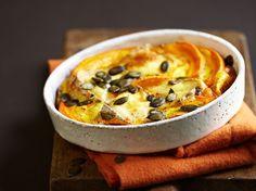 Découvrez la recette Gratin de courge au reblochon sur cuisineactuelle.fr.