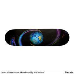 Our blue planet skateboard