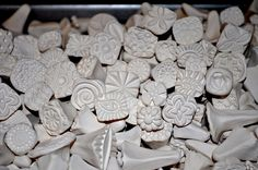 Handmade Clay stamps for pottery, polymer, PMC, fondant and more.... Clay Tools, Pottery Texture Tool, Stamps for DIY and all of your crafts. $35.00, via Etsy.
