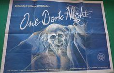 One Dark Night 1980's Horror Film Quad Poster   Featuring Adam West ( Batman ) Nominated Film of 1983 by bastarduk on Etsy