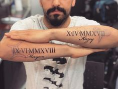 125 Roman Numeral Tattoos: Have A Better Appeal With Numerical Tattoos - Brenda O. - 125 Roman Numeral Tattoos: Have A Better Appeal With Numerical Tattoos – - Number Tattoos, Baby Name Tattoos, Father Tattoos, Dad Tattoos, Sleeve Tattoos, Mom Tattoos On Arm, Baby Tattoo For Dads, Forearm Name Tattoos, Inner Forearm Tattoo