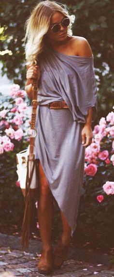 Asymmetrical street fashion dress