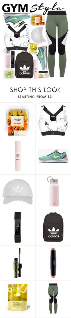 """""""Question, Tell Me What You Think About Me?"""" by xjustbecausex ❤ liked on Polyvore featuring adidas, ban.do, NIKE, Topshop, Kate Spade, Fitbit, MAC Cosmetics, Bodyism and Charli Cohen"""