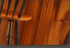 Beaded Wainscot Panels (Bead Board) can be applied to kitchen islands, end cabinet panels and more. Various designs can be ordered in many wood species and can be custom fit for your design!