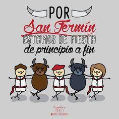 7 de Julio San Fermín.... #tupecitos #tupecitosfamily #pamplona #sanfermin #sanfermines #torico #dibujo #design #ilustracion #toros #barcelonacreativa #vivasanfermin
