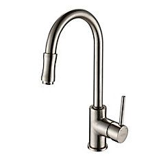 Single Lever Pull Out Kitchen Faucet Satin Nickel