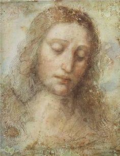 Head of Christ - Leonardo da Vinci