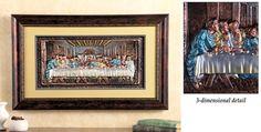 #31398 3D Framed Last Supper Wall Art by sensationaltreasures