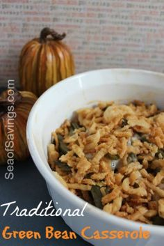 Traditional Green Bean Casserole Recipe! This is the BEST