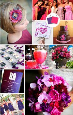 Amei esses tons de rosa e violeta