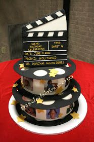 Say It Sweetly 2....... Ms Debbie's SugarArt: Lights, Camera, Action for this Hollywood Nights Theme Sweet 16 Cake