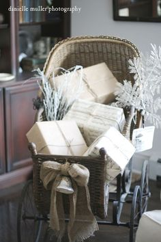decorate with a sleigh