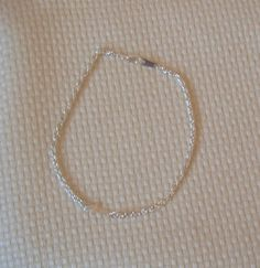 Anklet Silver Sideways Cross Rope Chain Ankle by rosepetalsjewelry, $12.00
