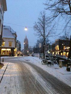 Oude Delft besneeuwd
