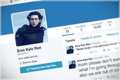 """Spoilers in joke form ahead: The self-described """"ren's rights activist"""" spills so many man tears for our enjoyment Emo Kylo Ren, The Imperial March, Self Described, Truly Appreciate, Just Kidding, Good Movies, Funny Things, Appreciation, Star Wars"""