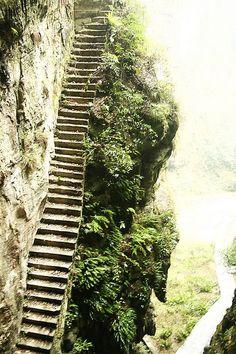 funny stairway .    China photo