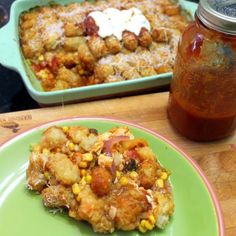 Inspired By eRecipeCards: Tater Tot Chicken Parmesan PLUS Casserole - Church PotLuck Main Dish