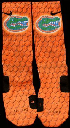 Florida Gators Custom Nike Elites by TheSickestSocks on Etsy, $35.99