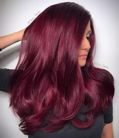 15 Best Maroon Hair Color Ideas of 2019 - Dark, Black & Ombre Colors Yummy Red Wine Hair Color Magenta Hair Colors, Brown Hair Color Shades, Ombre Hair Color, Cool Hair Color, Hair Colour, Winter Hair Colors, Trendy Hair Colors, Blonde Color, Pelo Color Vino