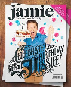 Jamie Magazine Lettering by Hylton Warburton
