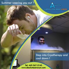 Summer wearing you out? Step into our cryosauna and cool down with a cryo session! Book now at http://www.absolutezerocryo.com/  #PainRelief #MuscleDamage #Recovery #Fitness #WeightLoss  #health #healthy #fitness #beauty #weightloss #dallas #texas #dallascryo #recover #recovery #absolutezerocryo #reset #cold #therapy #rejuvenate #fit #sports #beautiful #bestbody #normatec #cool #absolutezero #dallastexas #USA #mothersday #special #sale #giftofhealth #giftcard #BOGO #wednesdaywisdom #humpday