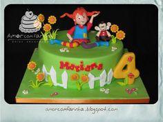 Pippi Longstocking Matilda, Pippi Longstocking, 30 Birthday Cake, My Childhood, Fondant, Party Themes, Cake Decorating, Decoration, Cartoons