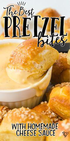Pretzel Bites Recipe Easy, Pretzels Recipe, Cheddar Cheese Recipes, Cheddar Cheese Sauce, Beer Cheese, Easy Appetizer Recipes, Snack Recipes, Snacks, Bread Recipes