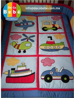 I'm collecting transportation templates for an original design that will include these types of vehicles - DMP Boys Quilt Patterns, Applique Quilt Patterns, Machine Applique Designs, Colchas Quilt, Patch Quilt, Quilting Projects, Quilting Designs, Sewing Projects, Cute Quilts