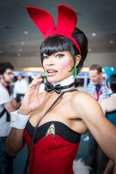 Star Trek Bunny Cosplay - #SDCC San Diego Comic Con 2014