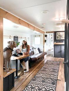 Mobile Living, Rv Living, Cabana, Rv Homes, Travel Trailer Remodel, Camper Makeover, Camper Renovation, Remodeled Campers, Camping