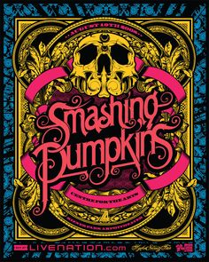 The Smashing Pumpkins The Smashing Pumpkins, Tour Posters, Band Posters, Event Posters, Retro Posters, Music Artwork, Art Music, Musik Illustration, Kunst Poster