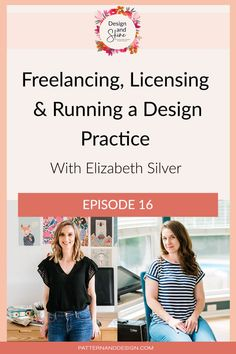 In this podcast episode of Design and Shine, I interview Elizabeth Silver. Elizabeth Silver is a surface pattern designer who has been working in industry both in full-time roles as well as in her studio practice where she freelances and licenses her work. We talk all about licensing, freelancing and running a design practice and Elizabeth gives us her tips for aspiring designers who are wanting to get work selling their designs. Textile Design, Fabric Design, Kids Patterns, Floral Patterns, Photoshop Tips, Inspiration For Kids, Surface Pattern Design, Geometric Designs, Beautiful Children