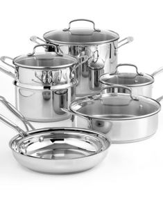 Cuisinart Chef's Classic Stainless Steel 11 Piece Cookware Set | macys.com
