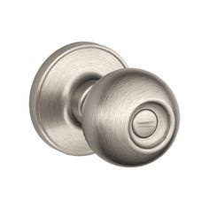 Doors Schlage J Series Dexter by Schlage Satin Nickel Round Turn-Lock Privacy Door Knob