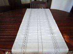Table Runner Crochet Linen Dining Table Runner by HonestCotton