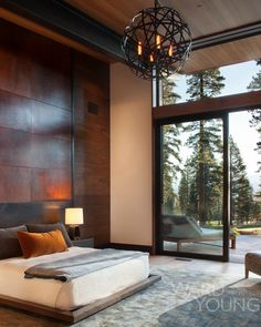 Modern Mountain Cabin By Ward Young...a dream home on a grand scale.