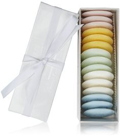Claus Porto Assorted Guest Soap Pastille Gift Box-White by Claus Porto. $19.00. Each gift box contains 15 disc-shaped soaps that are made to fit in the palm of the hand. Designed with the same care and commitment to quality as the larger Claus Porto soaps, these soap tablets make the perfect host/hostess gift. 3 pastilles of each fragrnace: Ilyria (Honeysuckle), Melodia (Melon), Rozan (Paradise Rose), Madrigal (Water Lily) and Cerina (Brise Marine).. A gift box of 15 guest ...