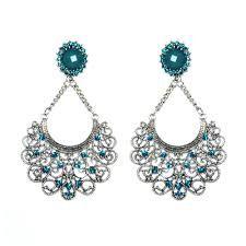 Brincos Indianos - Azul turquesa