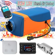 sandavonlinestore, free Air Diesels Heater Parking Air Heater With Remote LCD Digital Display With Remote Control for Boat Motorhome Trailer Oil Pipe, Camper Parts, Boat Trailer, Diesel Fuel, Remote Control Cars, Motorhome, Motor Car, Automobile, Trucks