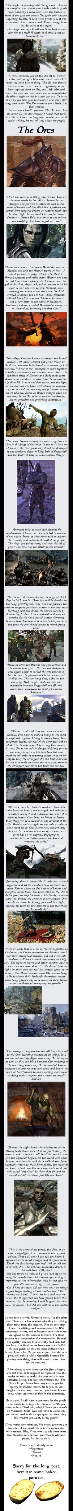 The Elder Scrolls Races: Orcs (Warning: Long Post)