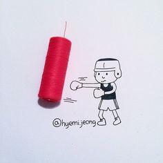 With thread on Behance