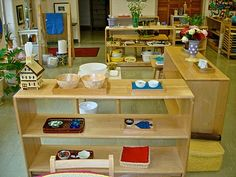 Great examples of montessori classroom set up, will use some of these ideas for our home.