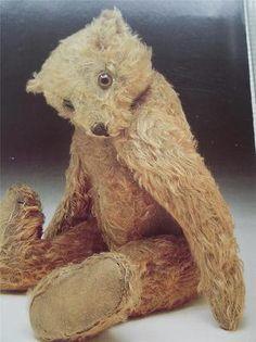 Vtg Teddy Bear Postcard German 1903 Real Photo Bethnal Green Childhood Museum