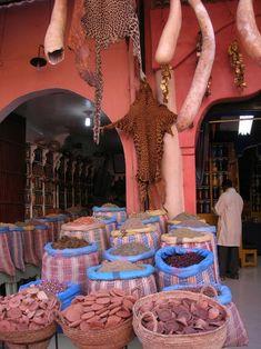 Outside a Berber Pharmacy, Marrakesh, Morocco