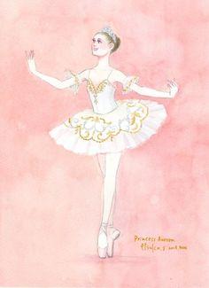 Ballerina Drawing, Ballet Drawings, Art Drawings Sketches, Ballerina Illustration, Ballet Art, Princess Aurora, Dance Poses, Ballet Costumes, Mythological Creatures