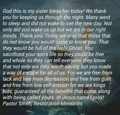 Sister Prayer, Prayers For Sister, My Sister, Go To Sleep, New Day, Blessed, Sisters, Mindfulness, God