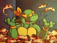 Cowabunggaaaa  !! It's Pizza time !!