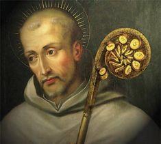 """""""San Bernardo de Claraval (Clairvaux). Gran impulsor y propagador de la Orden Cisterciense, fundada en el siglo XI. Fue declarado Santo en 1173 por el Papa Alejandro III. Luego, declarado Doctor de la Iglesia."""